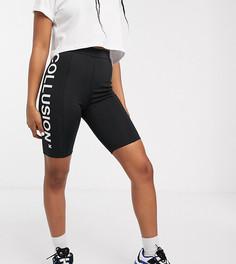 Леггинсы-шорты с логотипом COLLUSION - Черный