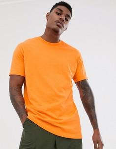 Оранжевая свободная футболка Bershka Join Life - Оранжевый