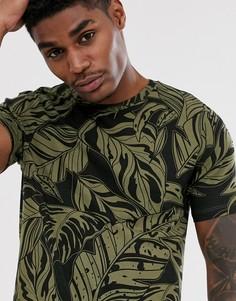 Зеленая футболка классического кроя с принтом Bershka Join Life - Зеленый