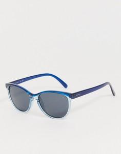 Синие круглые солнцезащитные очки Esprit - Синий