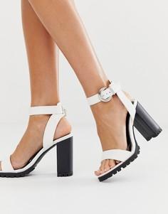Белые туфли на каблуке River Island - Белый