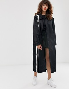 Черное пальто с тремя полосками adidas Originals TLRD - Черный