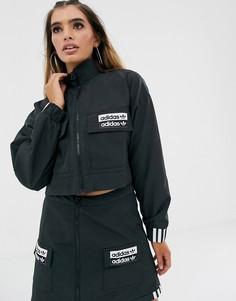 Черная укороченная куртка adidas Originals RYV - Черный