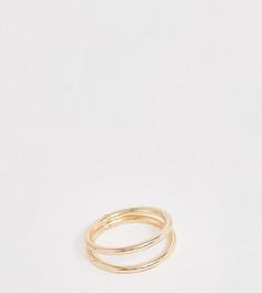 Золотистое кольцо ASOS DESIGN Curve - Золотой