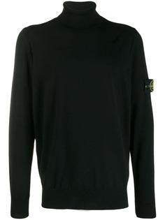 Stone Island свитер с высоким воротником и логотипом