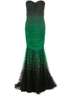 Tadashi Shoji вечернее платье с подолом из тюля
