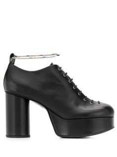 Jil Sander туфли на платформе со шнуровкой