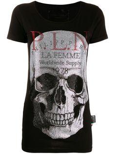 Philipp Plein футболка с принтом Skull и кристаллами
