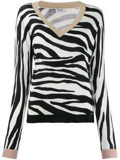 Liu Jo zebra knit jumper