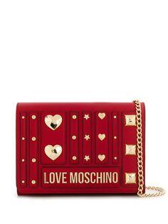 Love Moschino клатч с заклепками