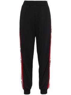 MSGM спортивные брюки с полосками по бокам