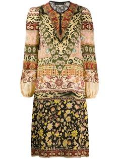Etro короткое платье с принтом