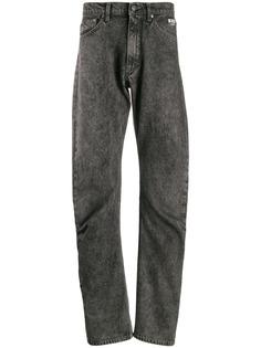 MSGM джинсы прямого кроя с эффектом потертости
