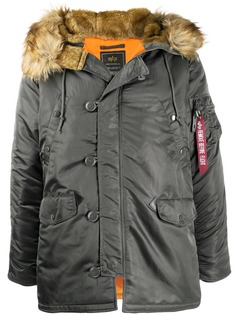 Alpha Industries hooded parka coat