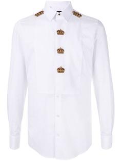 Dolce & Gabbana рубашка с вышивкой