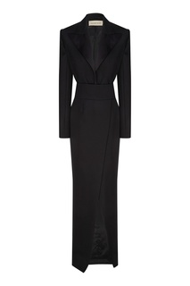 """Черное шерстяное платье """"Alexandre Vauthier"""""""