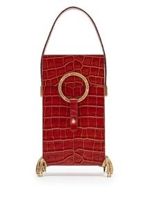 Коричневая сумка с декоративными деталями Alena Akhmadullina