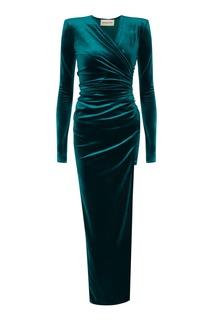 Вечернее платье с драпировкой Alexandre Vauthier