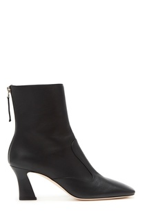 Черные кожаные ботильоны Fendi
