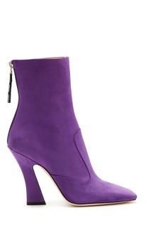 Фиолетовые ботильоны Fendi