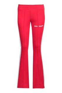 Красные расклешенные брюки-джоггеры Palm Angels