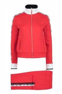 Красный спортивный костюм с отделкой Pinko