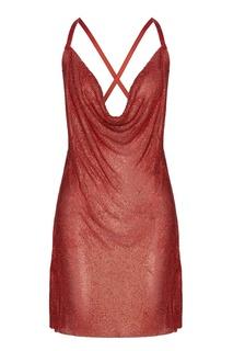 Красное платье-мини с кристаллами The Nude London
