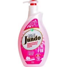 Гель для мытья посуды и детских принадлежностей Jundo Sakura с гиалуроновой кислотой, концентрат, 1 л