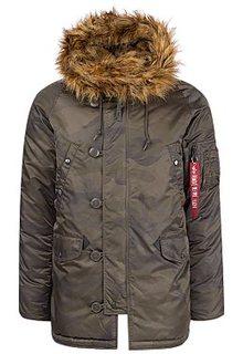 Утепленная куртка с отделкой из искусственного меха Alpha Industries