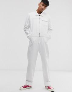 Белый джинсовый комбинезон M.C.Overalls - Белый