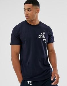 Темно-синяя футболка с логотипом Lacoste Millennials Colours - Темно-синий