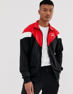 Спортивная куртка колор блок Puma Iconic - Черный
