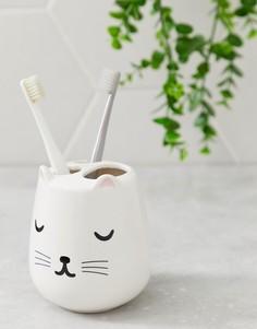 Подставка для зубных щеток с принтом кошки Sass & Belle - Мульти
