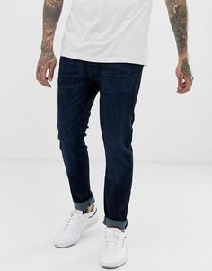 Темные зауженные джинсы стретч Abercrombie & Fitch - Синий