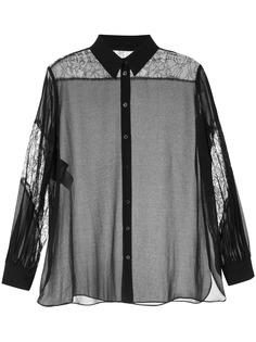Boutique Moschino рубашка с прозрачными вставками