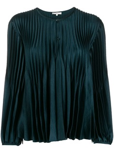 Vince satin pleated blouse