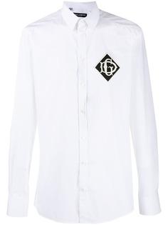 Dolce & Gabbana рубашка с нашивкой-логотипом