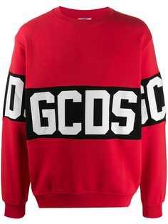 Gcds logo print sweatshirt