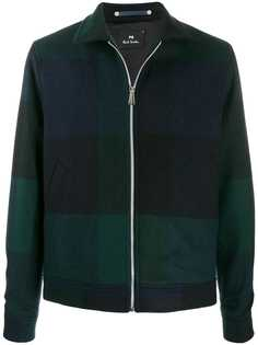 PS Paul Smith куртка бомбер в стиле колор-блок