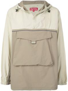 Supreme анорак с карманом спереди