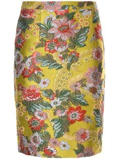 Andrew Gn облегающая юбка с цветочным узором