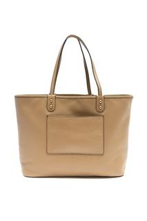 Бежевая сумка с накладным карманом Etro