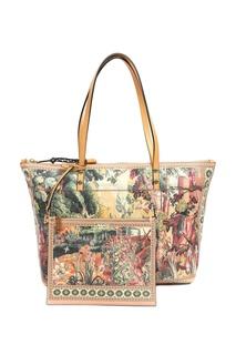 Бежевая сумка с рисунками Etro