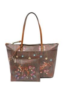 Коричневая сумка с узорами и рисунками Etro