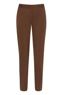 Базовые коричневые брюки Alberta Ferretti