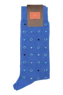 Голубые носки с узором Etro