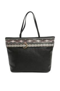 Черная сумка с орнаментами Etro
