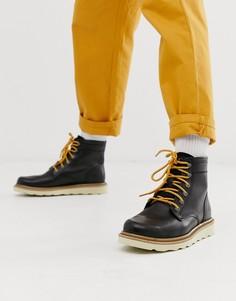 Черные кожаные походные ботинки Caterpillar chronicle - Черный