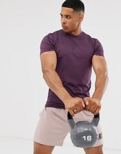 Фиолетовая футболка с логотипом HIIT core - Фиолетовый
