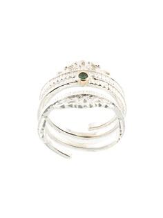 Bed J.W. Ford кольцо с декоративным камнем